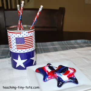 patriotic star crayons