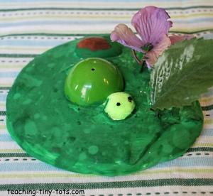 plaster of paris turtle scene
