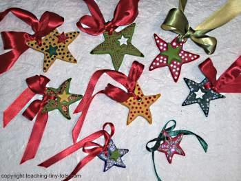 salt dough Christmas stars