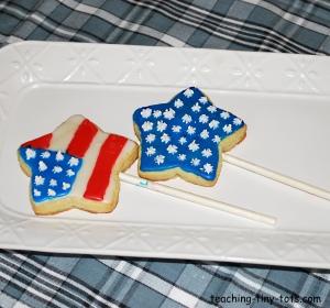 star flag sugar cookies