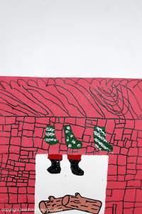 santa coming down the chimney