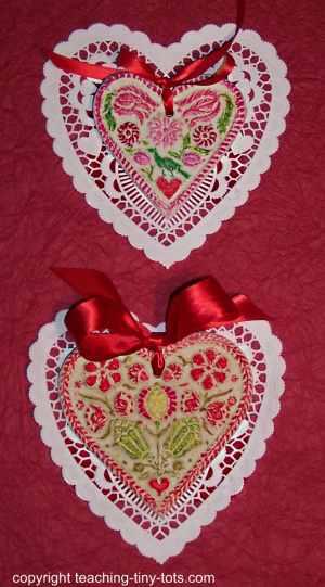 valentine's salt dough red/green