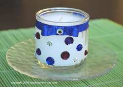 rhinestone decorated votive candle holder
