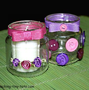 decorated votive candle holders