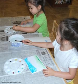 using paint palettes