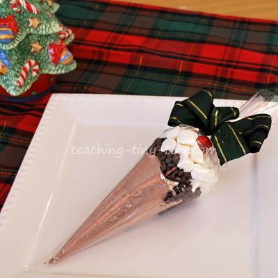 cocoa cones for stocking stuffers.