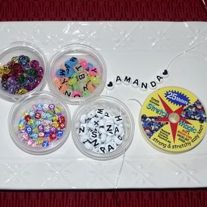 alphabet pony beads