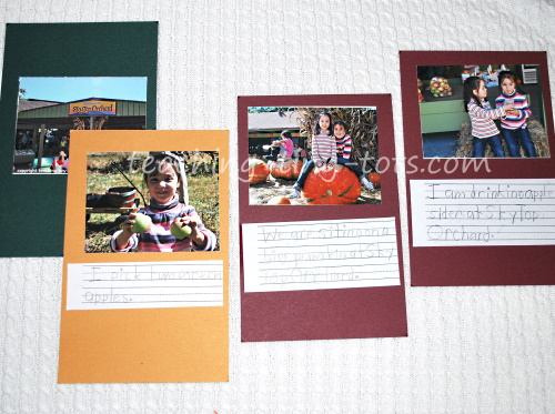Pages for a home made photo book.