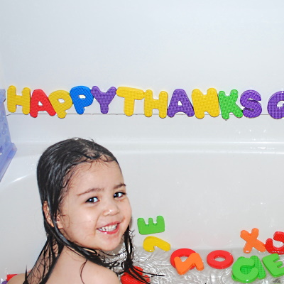 Foam Bath Letters help reinforce letter recognition and starting to read words.