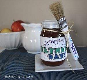 Cute personalized jar of  BBQ sauce for Father's Day