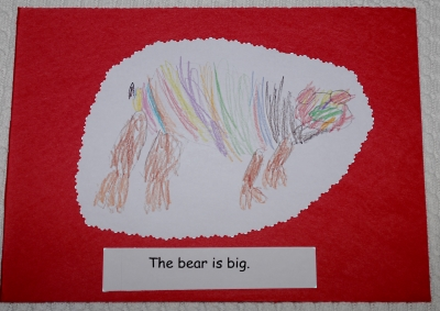Children's drawings to make books.