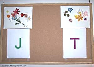 Showcase your child's work on a bulletin board.
