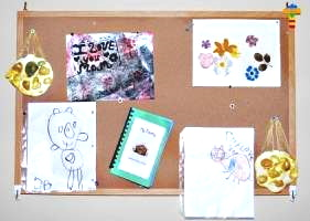 Put your child's best work on their bulletin board.