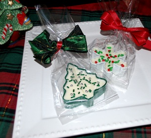 Chocolate Filled Christmas Cookie Cutters