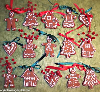 How to make Christmas cinnamon ornaments.