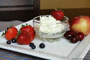 Cream cheese fruit Dip.