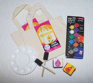 Decorate a tote bag party idea