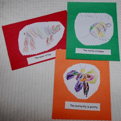 Make cute books with drawings from your child.