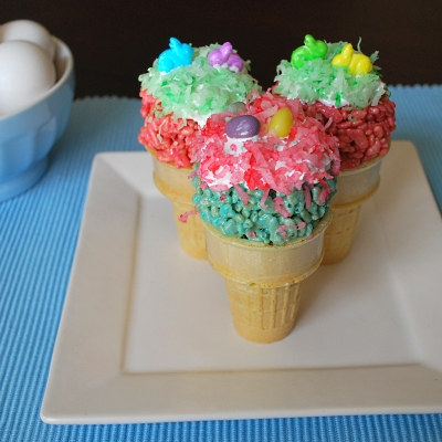 Make these cute Easter  ice cream