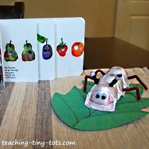 The Very Hungry Caterpillar Egg Carton Craft