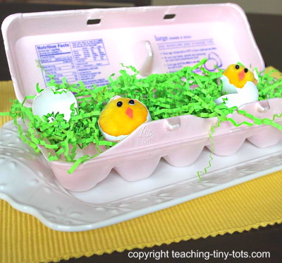How to make these cute egg carton chicks.