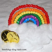 ponybead rainbow craft for kids