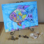 rainbow fish watercolor activity