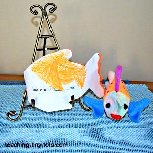 Making a fish shaped book.