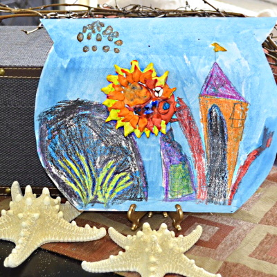 Mixed Media Art Project: in a Fishbowl