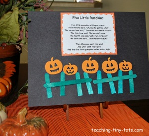 photograph relating to Five Little Pumpkins Printable called Infant Things to do: 5 Minimal Pumpkins Halloween Poem
