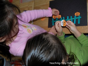 making Five Little Pumpkins Picture