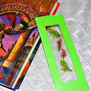Flower pressed bookmark