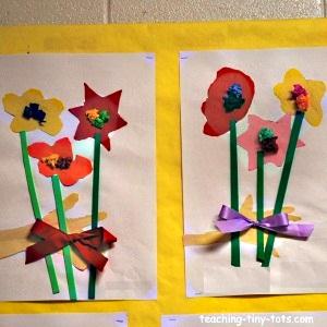 3-D Flower Bouquet Art