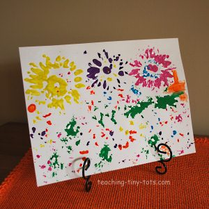 making cards with flower prints