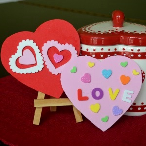 foam valentine card