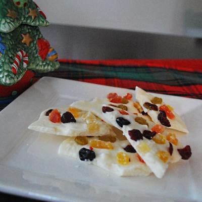 White Chocolate Fruit Bark