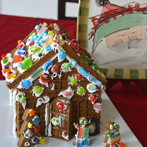 gingerbread house from a mold