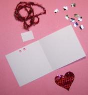 Making a heart card.