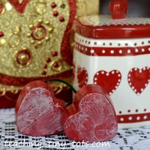 heart ornament using a silicone mold