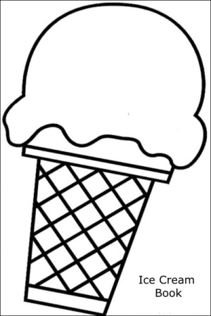 Print our free shape ice cream book.
