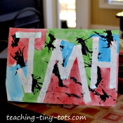 using tape to create initial art