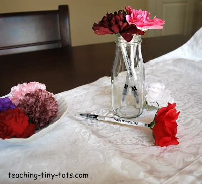 flower pen with message