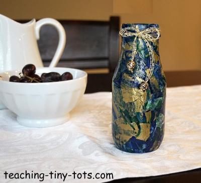 Marbled Decoupage Jar