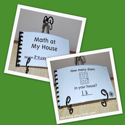 A cute Counting book to send home for kids to count objects around the house.