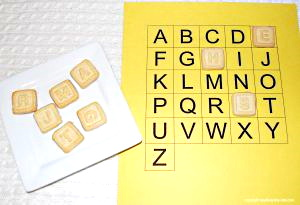 Letter Cookies to reinforce letter recognition and sounds.