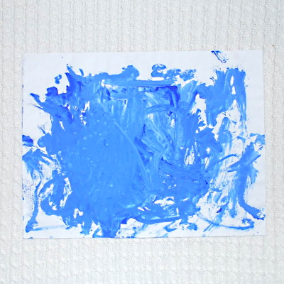 painting with primary colors and white