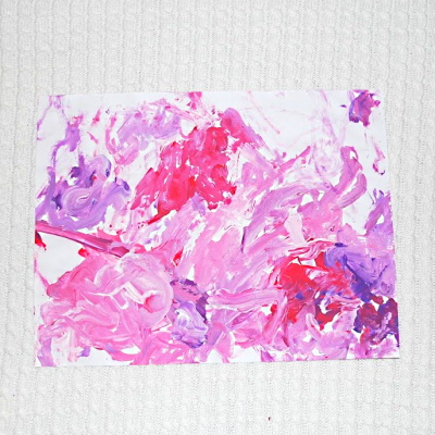 Tempura Paint with Red Blue and White