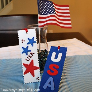 Make a Patriotic Bookmark with foam