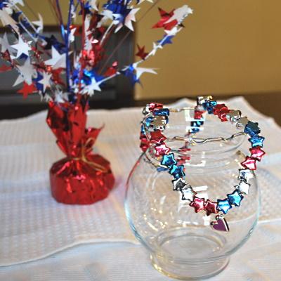 patriotic pony bead necklace