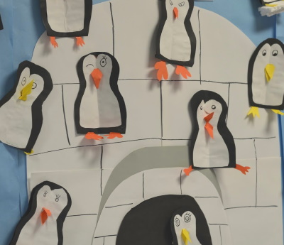 Make a class picture with each child making a penguin to add their contribution.